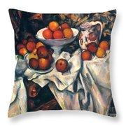 Cezanne: Still Life, C1899 Throw Pillow