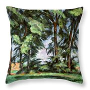 Cezanne: Trees, C1885-87 Throw Pillow