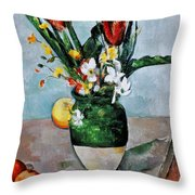Cezanne: Tulips, 1890-92 Throw Pillow