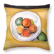 Cezannes Fruit Bowl Throw Pillow