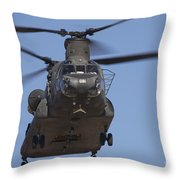 Ch-47 Chinook Flies Over Playas Throw Pillow