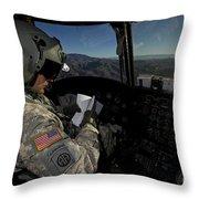 Ch-47 Chinook Pilot Refers Throw Pillow