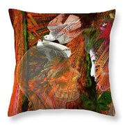 Sunlight On My Face Throw Pillow
