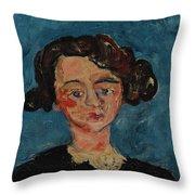Chaim Soutine 1893 - 1943 Portrait De Jeune Fille Paulette Jourdain Throw Pillow