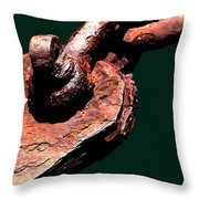 Chain Age II Throw Pillow by Stephen Mitchell