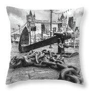 Chain And Anchor, Southwark Throw Pillow