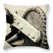 Chain And Gear Throw Pillow