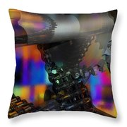 Chain And Sprockets - Amcg -  Macro 13 30 X 20 Throw Pillow