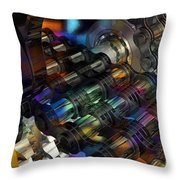 Chain And Sprockets - Amcg -  Macro 16 30 X 20 Throw Pillow