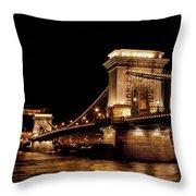 Chain Bridge - Budapest Throw Pillow