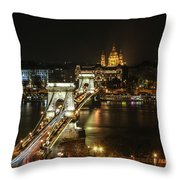 Chain Bridge Throw Pillow