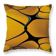 Chain Link Fractal Throw Pillow
