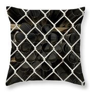 Chain Link Pipe Throw Pillow