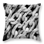 Chain Links Throw Pillow