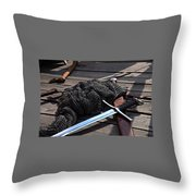 Chain Mail And Sword Throw Pillow