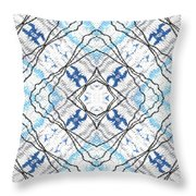 Chain Of Clouds Pattern Throw Pillow