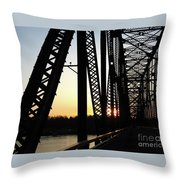 Chain Of Rocks At Sunset Throw Pillow