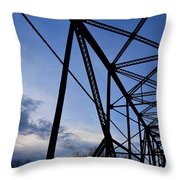 Chain Of Rocks Bridge Throw Pillow