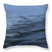Chain Of Rocks On The Mississippi River Throw Pillow
