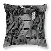 Chain Pallet Bw Throw Pillow