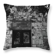 Chained Doors Throw Pillow