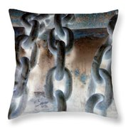 Chains - Nagative Throw Pillow