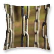 Chains Abstract 1 Throw Pillow