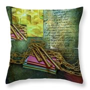 Chains, Poetry And Spirits Throw Pillow
