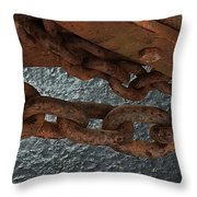 Chains To The Sea Throw Pillow