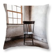 Chair By The Window Grafton Ghost Town Throw Pillow
