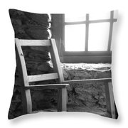 Chair By Window - Ireland Throw Pillow