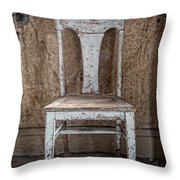 Chair In Abandoned Home In Bodie Ghost Town Throw Pillow by Bryan Mullennix