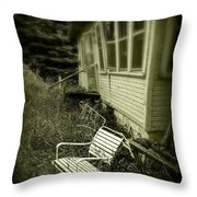 Chair In Grass Throw Pillow