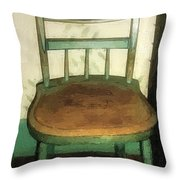 Chair In Isolated Corner Throw Pillow