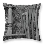Chair Legs Bw Throw Pillow