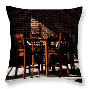 Chairs And Shadows Throw Pillow
