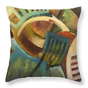 Chairs Around The Table Throw Pillow