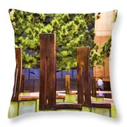 Chairs At The Gate Throw Pillow