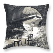 Chairs - Stone Bridge Throw Pillow
