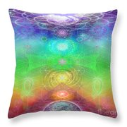 Chakra Activation Geometry Template Throw Pillow