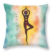 Chakra Yoga Art By Valentina Miletic Throw Pillow