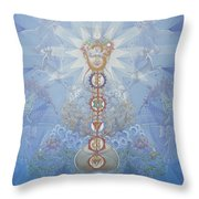 Chakras And Elements Throw Pillow