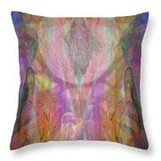 Chakwaina Okya-goddesschildbirth Throw Pillow