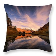Chalet With An Autumn View Throw Pillow