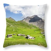 Chalets De Clapeyto # II - French Alps Throw Pillow
