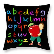 Chalk Board Alphabet B Throw Pillow