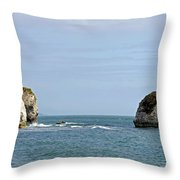 Chalk Cliffs At Freshwater Bay Throw Pillow