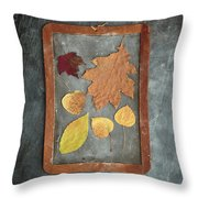 Chalkboard Leaves Throw Pillow