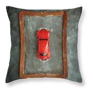 Chalkboard Toy Car Throw Pillow
