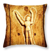 Chalked Out John Doe Throw Pillow